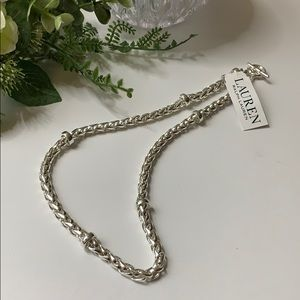 Lauren Ralph Lauren Silver Tone Chain Necklace